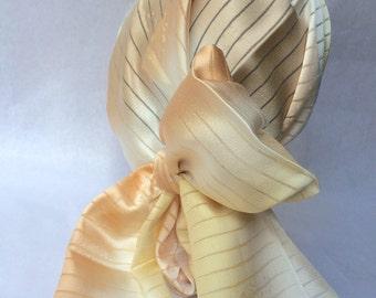 Japanese silk scarf - beige x saumon pink gradation