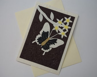 Butterfly Brown Greeting Card
