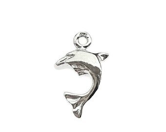 Sterling Silver Dolphin Charm, Dolphin Charm, Alexia Silver
