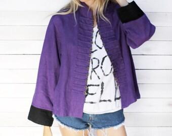Vintage Purple Military Inspired Jacket