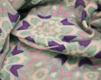 Aqua Printed Cashmere Silk Scarf