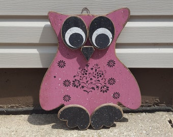 "Hand painted 18"" Owl Decor"