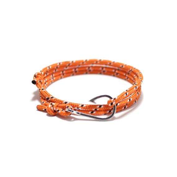 Fish hook bracelet fish hook rope bracelet by for Mens fishing bracelet