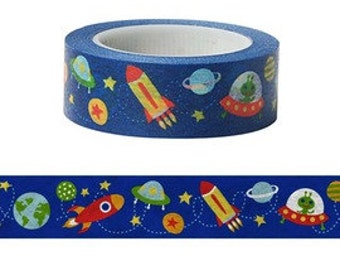 15mm x 10m, washi masking tape - Funtape - outer space - 9327903