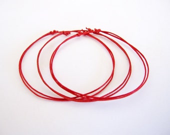 Kabbalah Bracelets. Set of 3 Red String Bracelets. Protection. Good Luck. Evil Eye. Hamsa. Adjustable. Dainty.