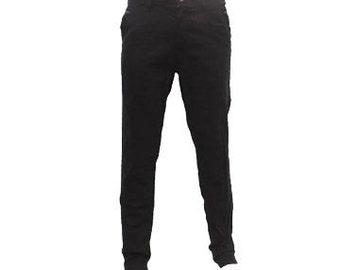 Mens black gabardine pant