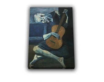 The Old Guitarist by Pablo Picasso Painting Reproduction popular paint canvas wall art canvas popular art home decor office decor birthday