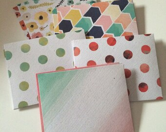 Watercolor Envelopes with Note Cards / Stationery / Hand Made Stationery / Envelopes / Note Cards