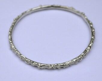 Lava Bangle - Sterling Silver