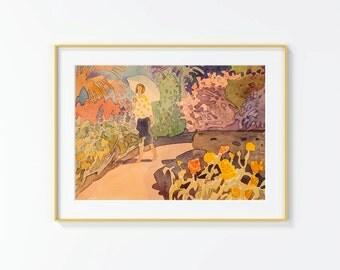 Original Watercolor Painting ,, Original Watercolor, landscape, garden