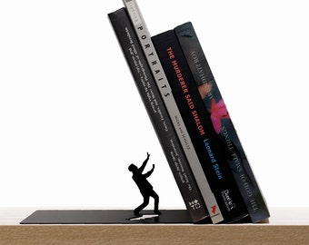 Falling Bookend - Metal bookend - Designed Bookend- Bookends- Book accessories