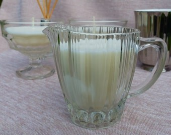 Vintage Glass Jug Soy Wax Scented Candle