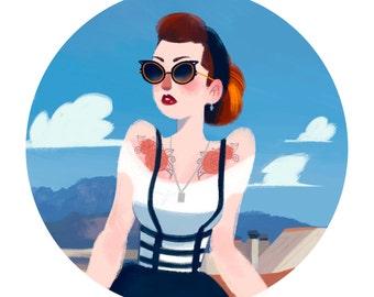 Fashion custom portrait / portrait of fashionable custom