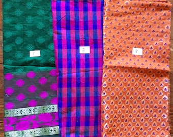 Fine Indian Handloom Banaras Cotton Fabric - 9 Different Varieties