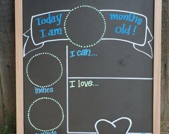 I am ____________ Months Old Chalkboard