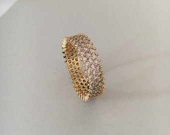 Eternity Band, Eternity Ring, Diamond Eternity Ring, Gold Ring, Delicate Ring, Delicate Gold Ring, Diamond Eternity Band