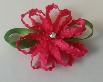 Ruffle Flower Hair Clip