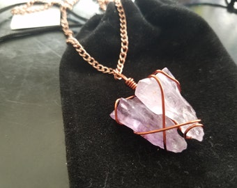 Copper wired amethyst