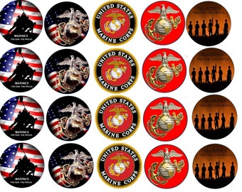 U.S. Marines Edible Images Cupcake, Cookie Toppers