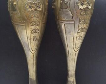 Superb pair of vases Art Nouveau signs A. Mario