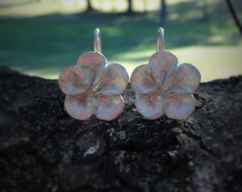 Petite Flower Patch Drop Earrings