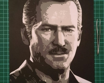 Uncharted 4 Sully papercut picture