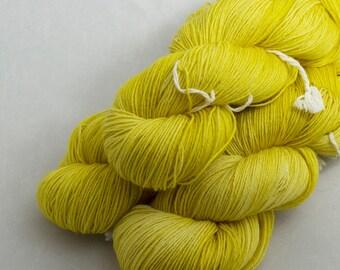 Golden Coral on Shoal, 75 Merino 25 Nylon, fingering weight yarn handdyed indie