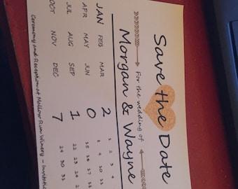 Customizable Save the Date Postcard