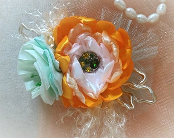 Pretty baby headband- tangerine Orange baby headband-newborn photo prop-baby girl heaband-headband-special occasions