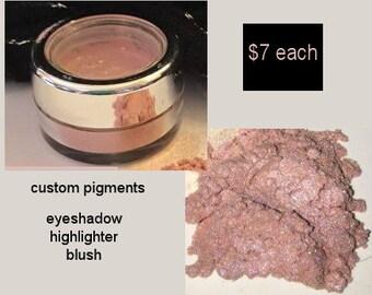 Mineral Pigment, Loose powder, Eyeshadow, Highlighter, Blush