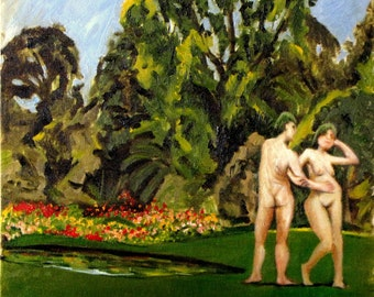 Adam and Eve in the botanical garden