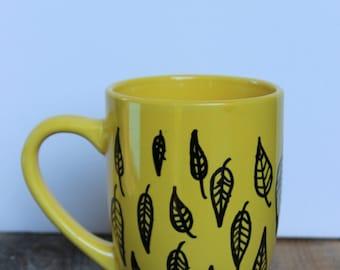 Yellow Leaf Mug