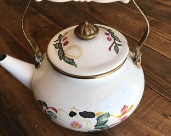 Vintage Enamel Tea Pot