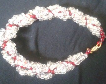 Red spiral braclet