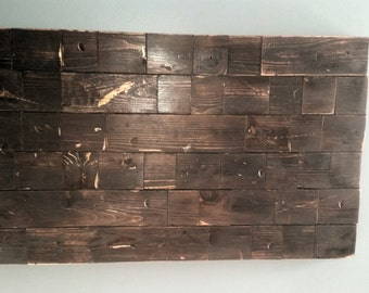 Distressed Wood Wall Art - Made to Order