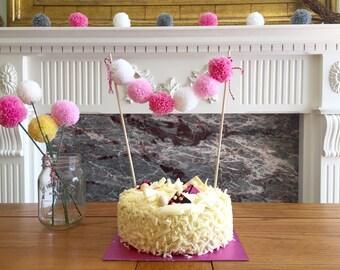 Pom Pom Cake Banner