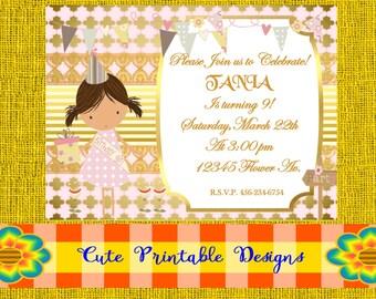 Printable Invitation, Birthday Invitation INVICUMPLE-POPPGYRLYVAR-54
