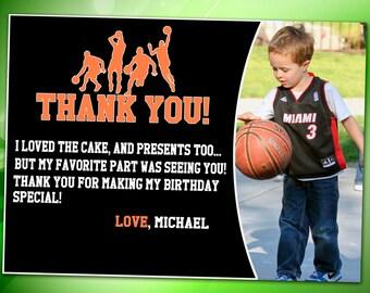 Basketball Thank you card, basketball Invitation, basketball Thank you