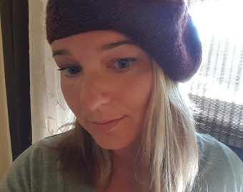 Chocolate Brown Slouch Hat