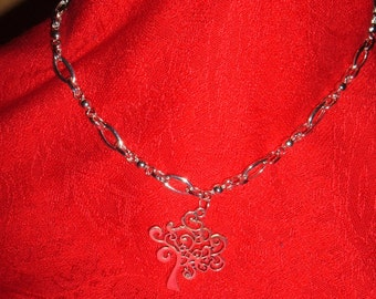 925 S Silver 20in Chain w. TREE OF LIFE pendant