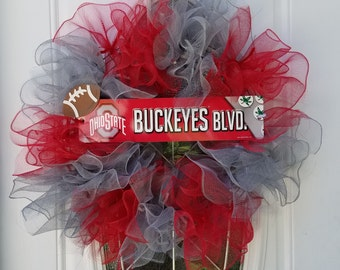 Ohio State University Wreath!
