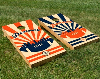 Denver Football Cornhole Board Set