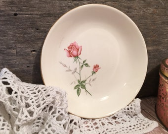 Vintage Serving Bowl/Pink Roses/Shabby Chic