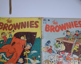 Two Vintage Comics, The Brownies,  1950's
