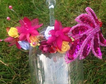 Handmade Flower and Crystal Headband