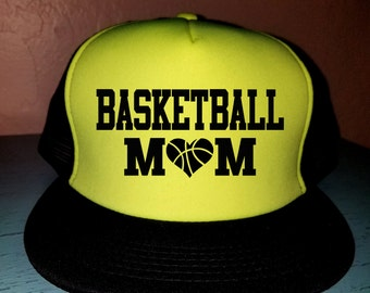 Basketball Mom Trucker Hat Snapback Hat Custom Trucker Hat Gameday Trucker Hat Sports Mom