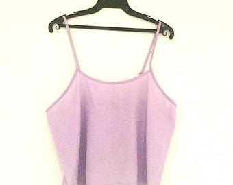 Purple Silky Crop Top