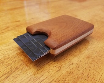 Mahogany Business Card Case