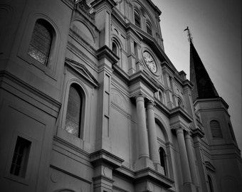 Nola Nights: Black & White Cathedral