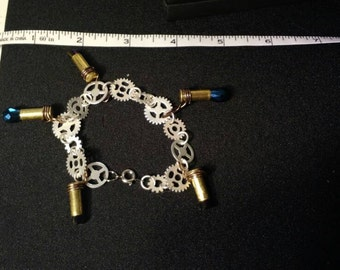 Gears, Bullets, and Beads Bracelet